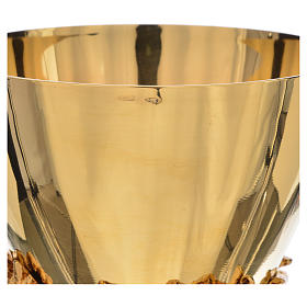 Calice coppa argento 925 fodera uva base spighe s4