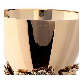 Calice coppa argento 925 fodera uva base spighe s8