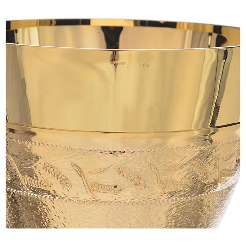 Calice coppa argento 925 spighe 4