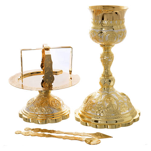 Set cáliz disco  cubiertos litúrgica Ortodoxa 1