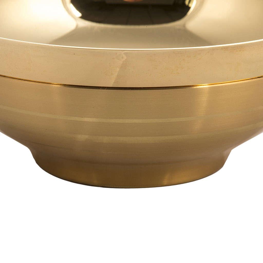 Patena offertoriale liscia dorata con bornitura cm 16 4