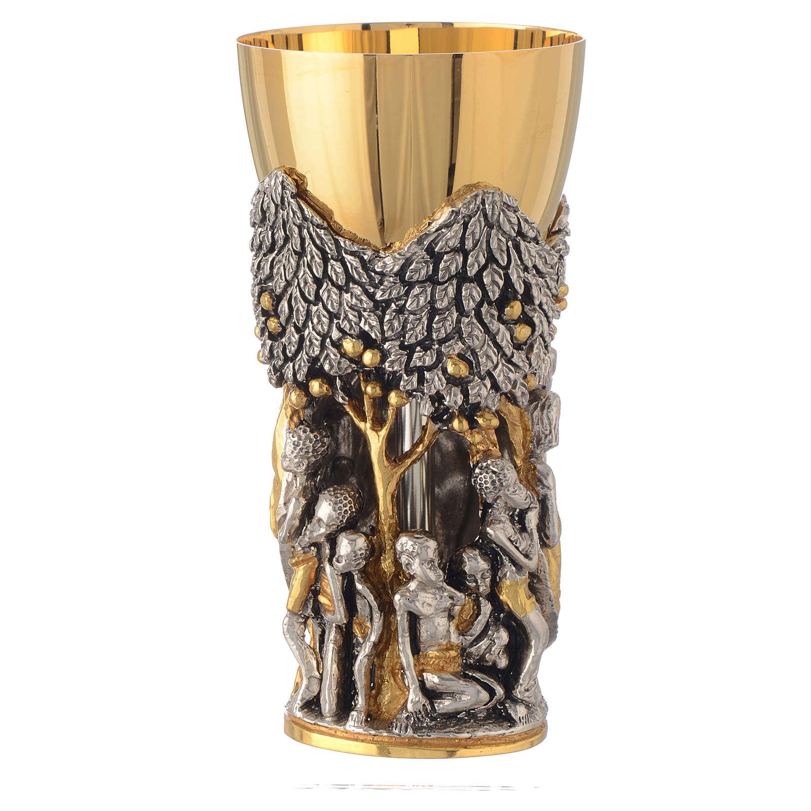 Calice mod. Cristo Africa ottone bicolore 4