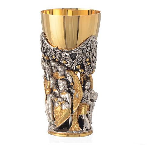 Calice mod. Cristo Africa ottone bicolore 2