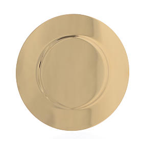 Paten in gold-plated shaped brass, 15,5cm s2