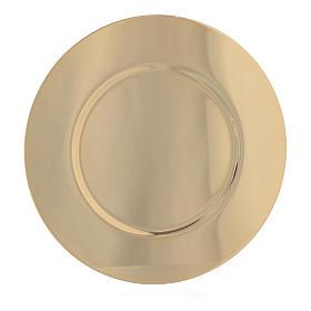 Patena ottone dorato sagomata diam 15,5 cm s1