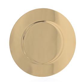Patena ottone dorato sagomata diam 15,5 cm s2