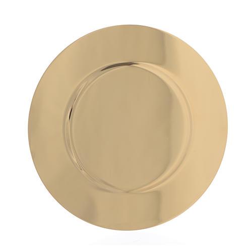Patena ottone dorato sagomata diam 15,5 cm 2