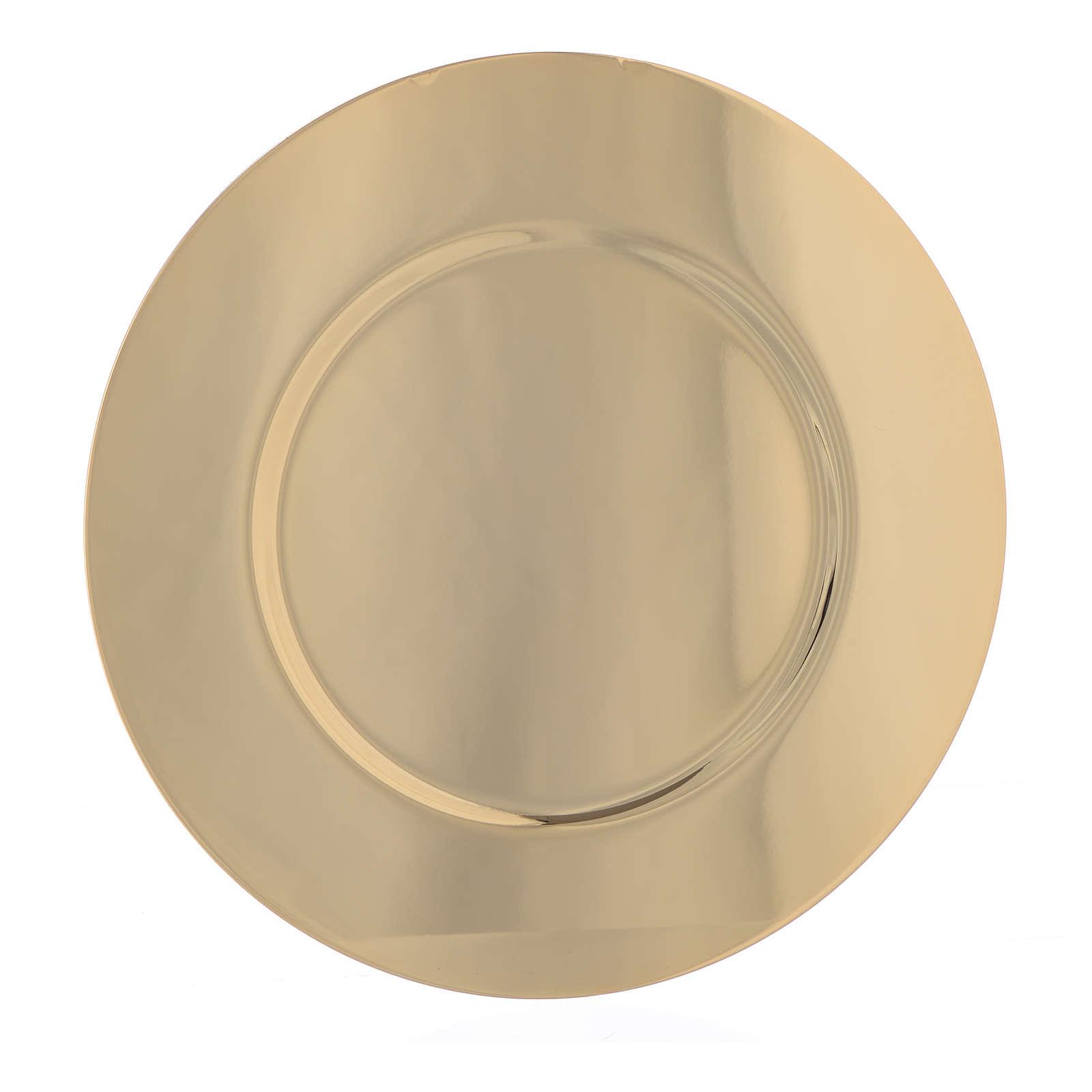 Bandeja latão dourado diâmetro 15,5 cm 4