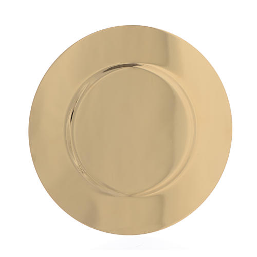 Paten in gold-plated shaped brass, 15,5cm 2