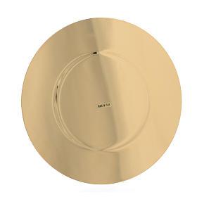 Patena ottone dorato sagomata diam cm 16,5 s2