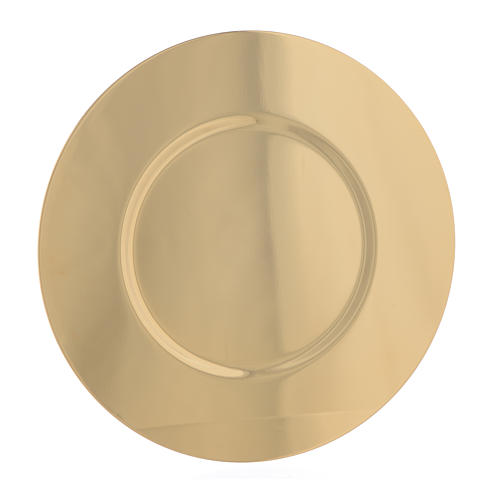 Paten in gold-plated shaped brass, 16,5cm 1