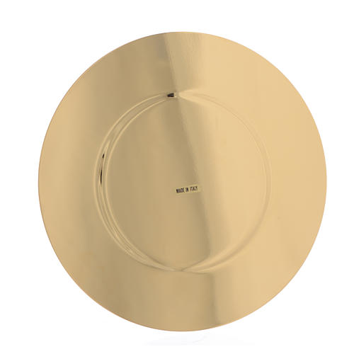 Paten in gold-plated shaped brass, 16,5cm 2