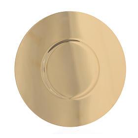Patène laiton doré fond profilé diam 16 cm s2