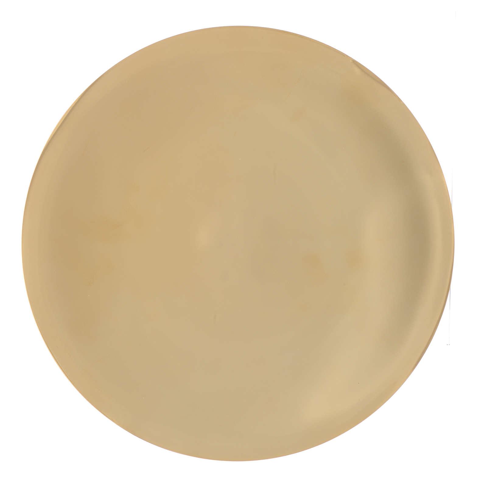 Patène laiton lisse brillant diam 25 cm 4