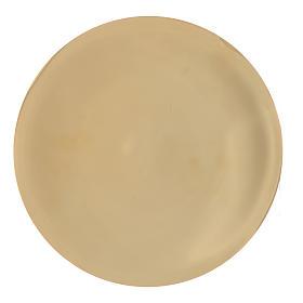 Patène laiton lisse brillant diam 25 cm s1