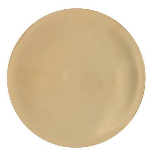 Patène laiton lisse brillant diam 25 cm 1