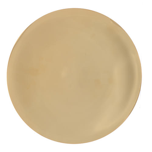 Patena ottone liscia lucida cm 25 1