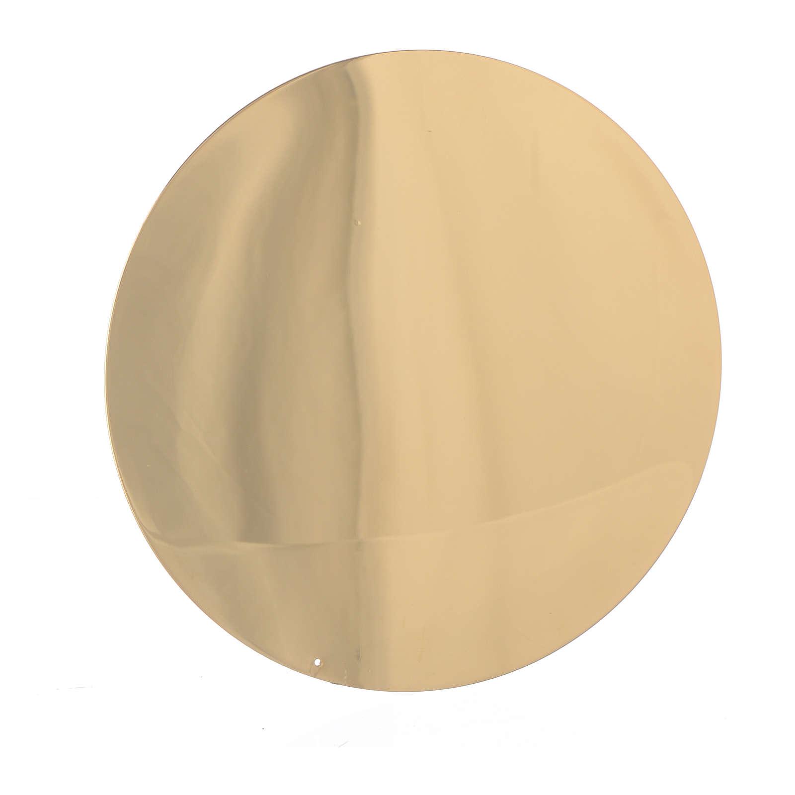 Patena liscia ottone diam 10 cm 4