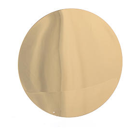 Patena liscia ottone diam 10 cm s2