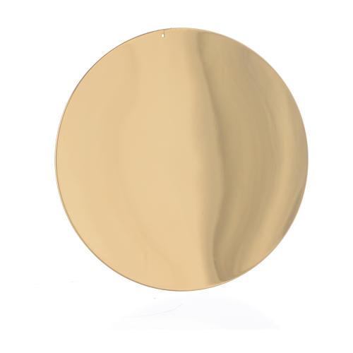 Patena liscia ottone diam 10 cm 1