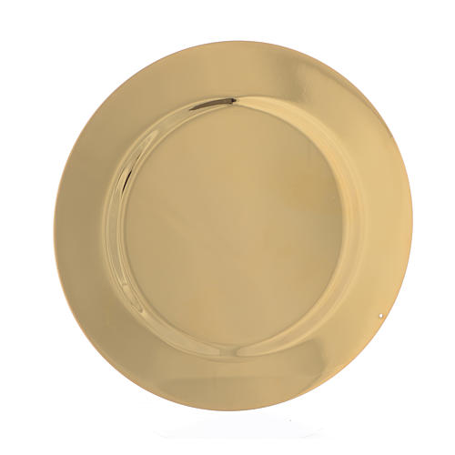 Paten smooth and shaped brass, 11cm 2
