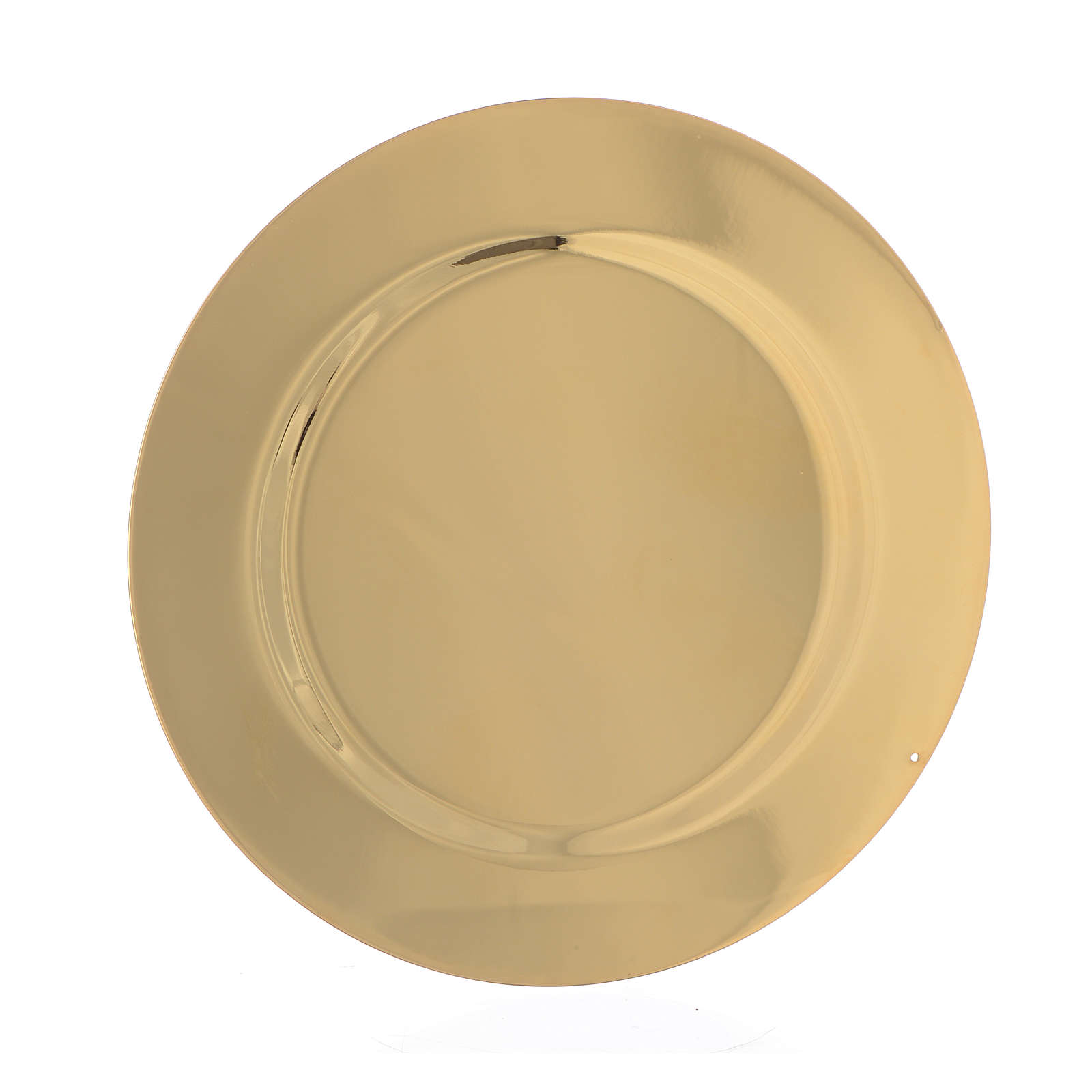 Patène profilée laiton lisse diam 11 cm 4