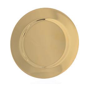 Patène profilée laiton lisse diam 11 cm s2