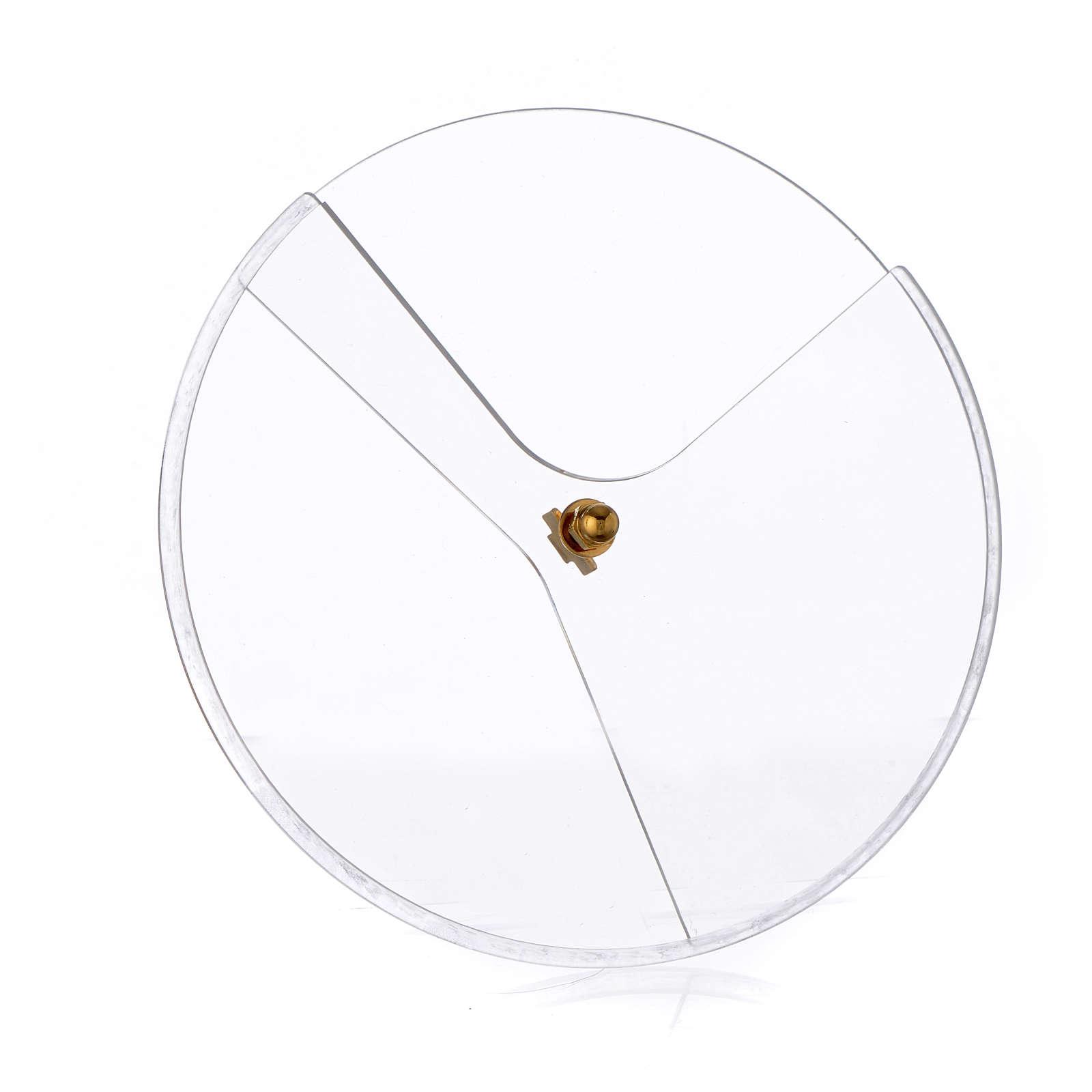 Tapadera plexiglás giratorio para copón diám 14 cm 4