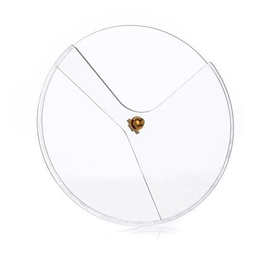Tapadera plexiglás giratorio para copón diám 14 cm 1