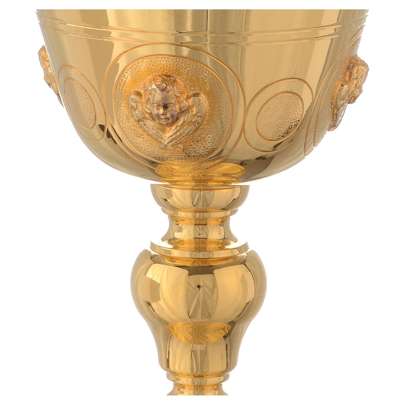 Calice con angeli Molina ottone dorato 4