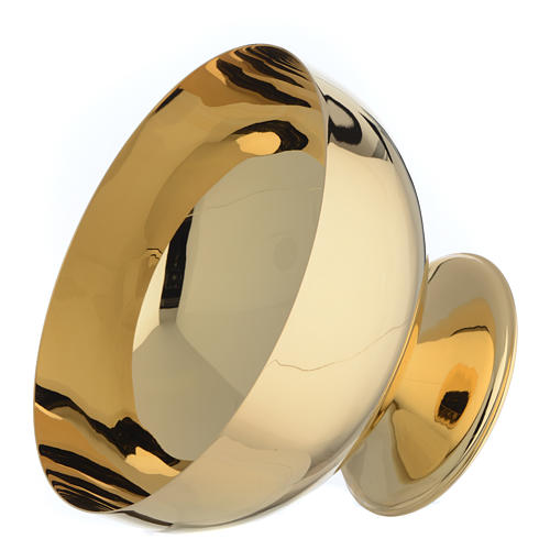 Bowl paten in gold-plated brass 2