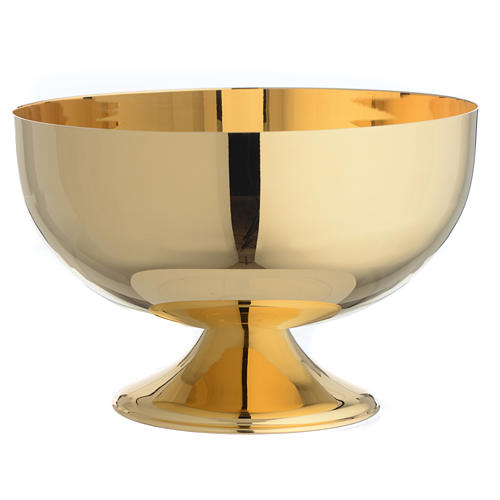 Patena offertoriale in ottone dorato 1