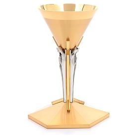 Calice conico ottone dorato Angeli s10