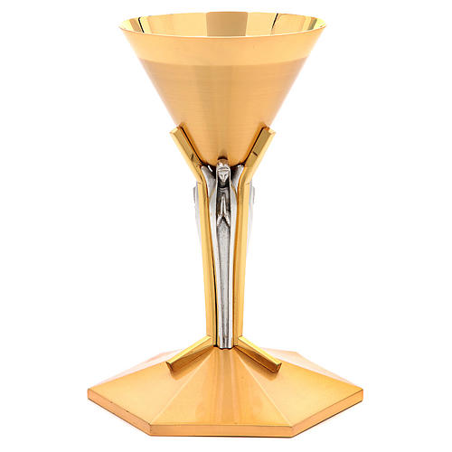 Calice conico ottone dorato Angeli 9