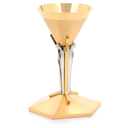 Calice conico ottone dorato Angeli 11