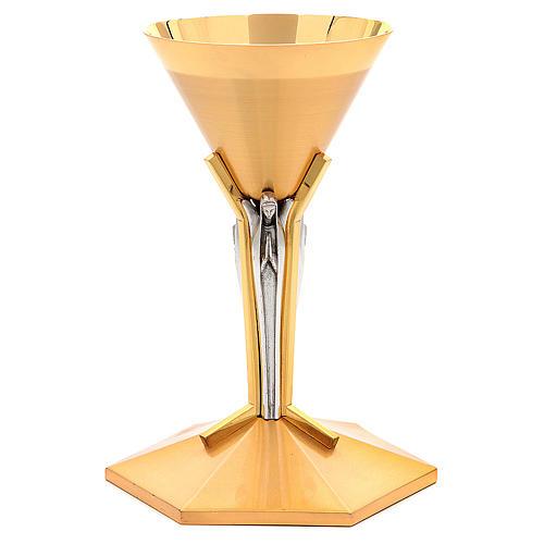 Calice conico ottone dorato Angeli 1