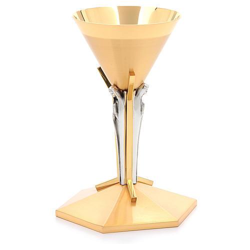 Calice conico ottone dorato Angeli 3