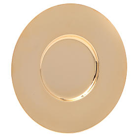 Well paten, polished gold-plated brass, 16 cm s1