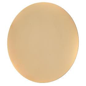 Patena ottone dorato semplice lucida cm 16