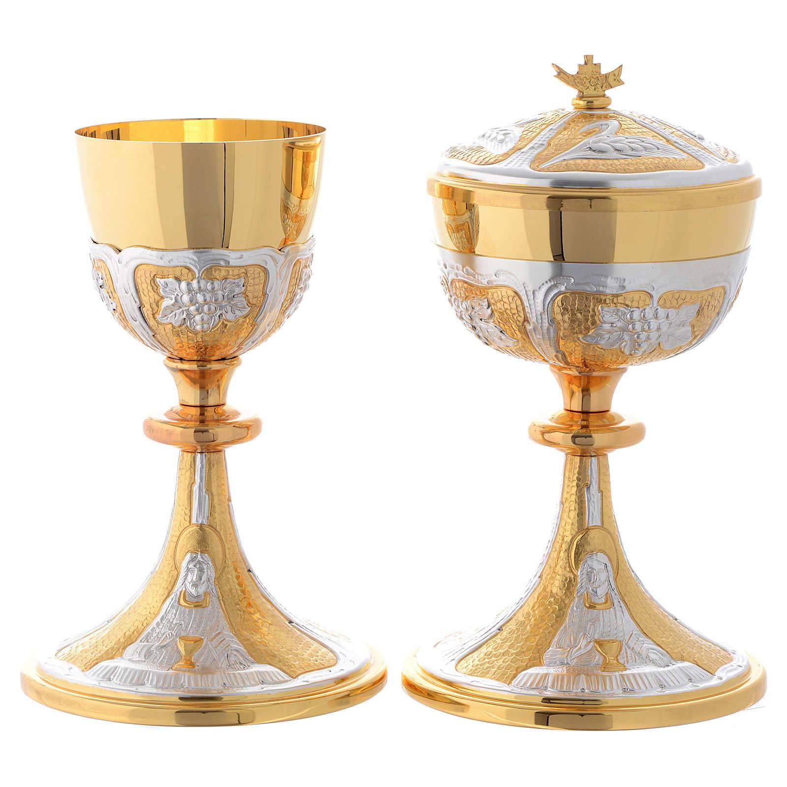 Calice e Pisside ottone Gesù con calice 4