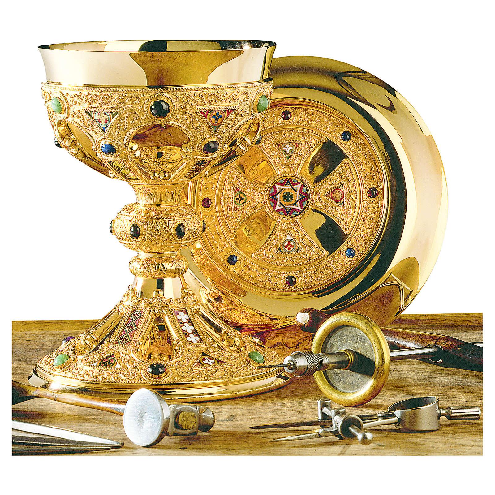Cálice e patena Molina St. Remy copa em prata 925 maciça 4