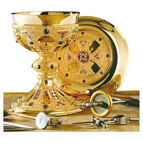 Calice e patena Molina St. Remy ottone dorato s1