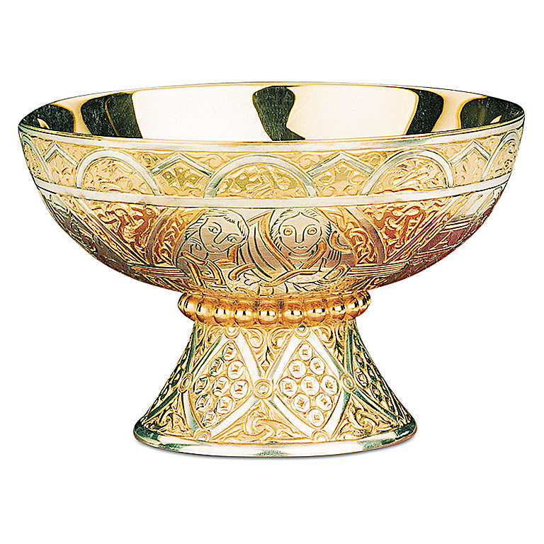 Patena offertoriale Tassilo Molina coppa argento 925 4
