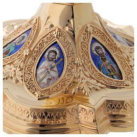 Kelch und Patene Messing Silber neugotischen Stil Molina s10
