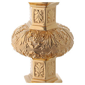 Calice e patena Molina neo-gotico coppa argento 925 s12