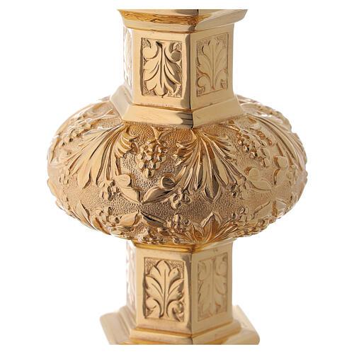 Calice e patena Molina neo-gotico coppa argento 925 12