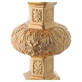Cálice e patena Molina neo-gótico copa prata 925 s12
