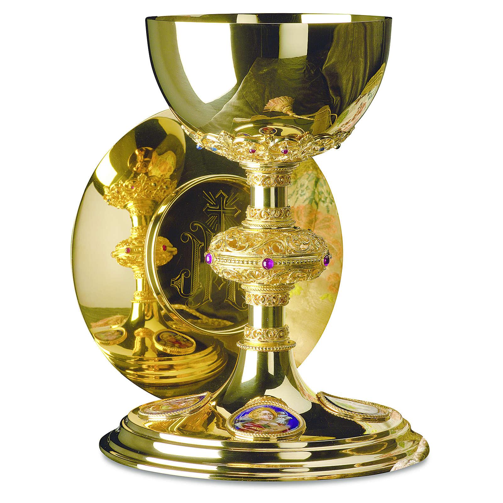 Calice e patena Molina stile tedesco coppa argento 925 4