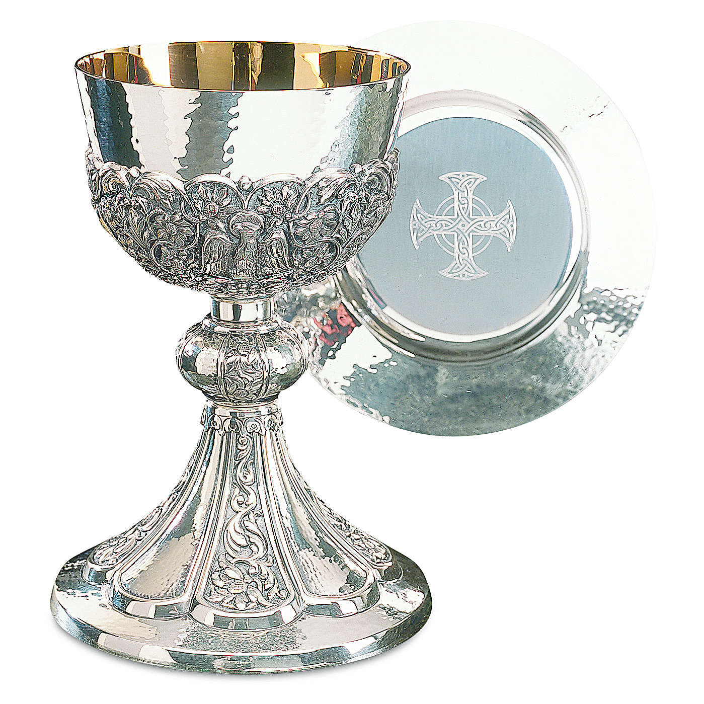 Calice patena Molina mod. Bizantino coppa argento 925 4