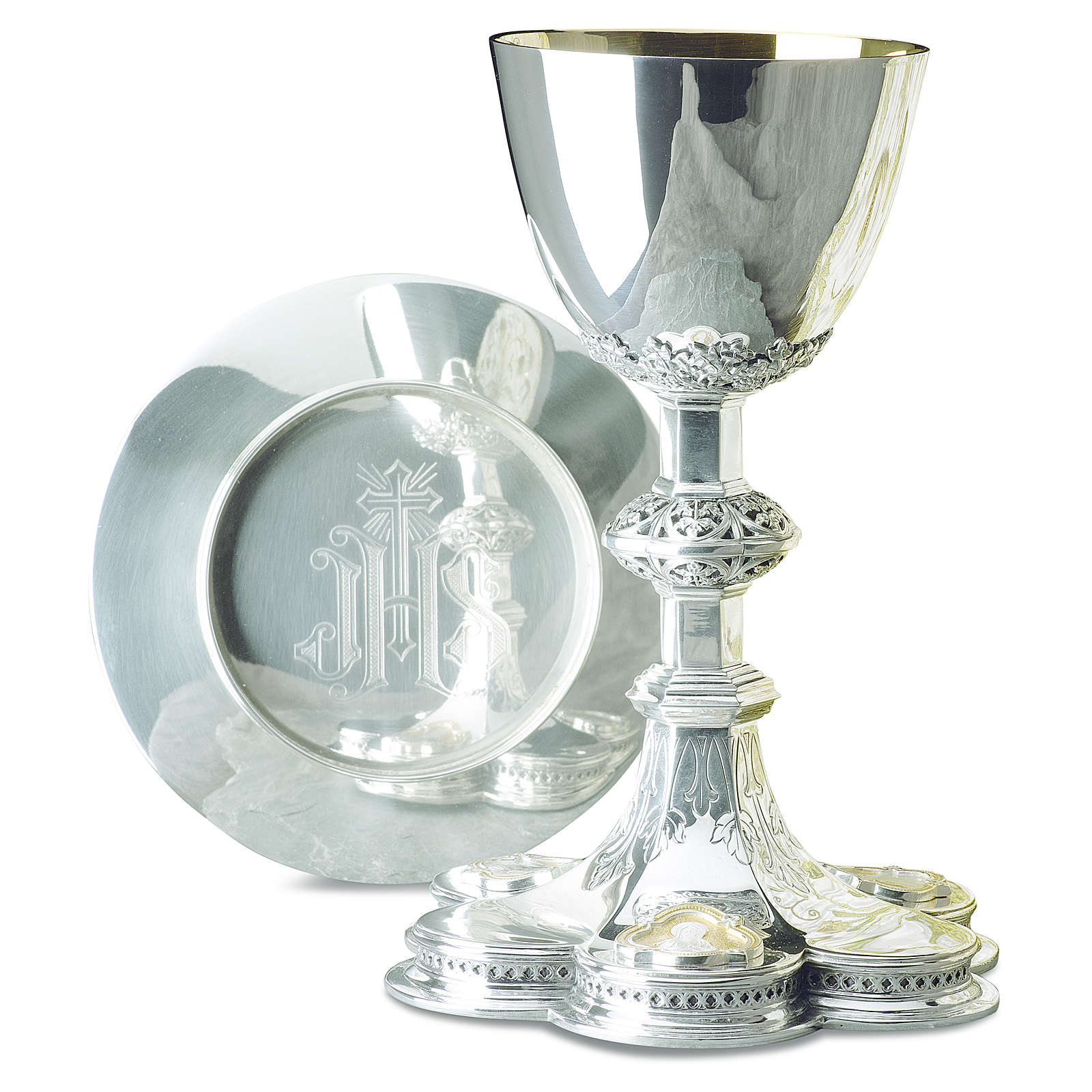 Calice patena Molina Gesù Maria Giuseppe argento 925 4